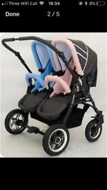 Double Pram / Buggy Nearly New Perfect Clean Condition REDUCED PRICE