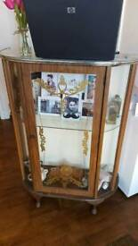 Art Deco style glass display unit