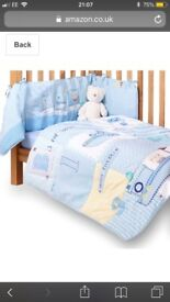 Clair de Lune quilt and bumper set
