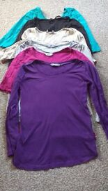 Maternity bundle long sleeved tops from New Look and Dorothy Perkins