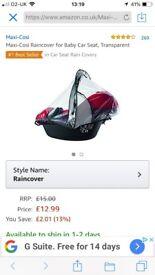 Rain cover maxi-cosi car seat (cabrioFix,City,Pebble,Pebble Plus)-new