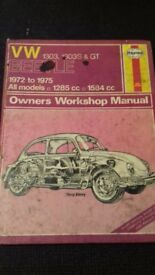 HAYNES VW 1303,1303S & GT OWNERS WORKSHOP MANUAL ALL MODELS 1285 -1584cc 1972 - 1975