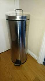 Large stainless steel kitchen bin
