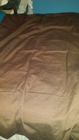 2 pair of brown curtains