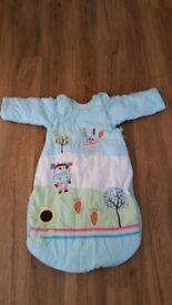 Baby Girl Boy Unisex Cotton Sleeping Bag 2.5 Tog 12-18 m