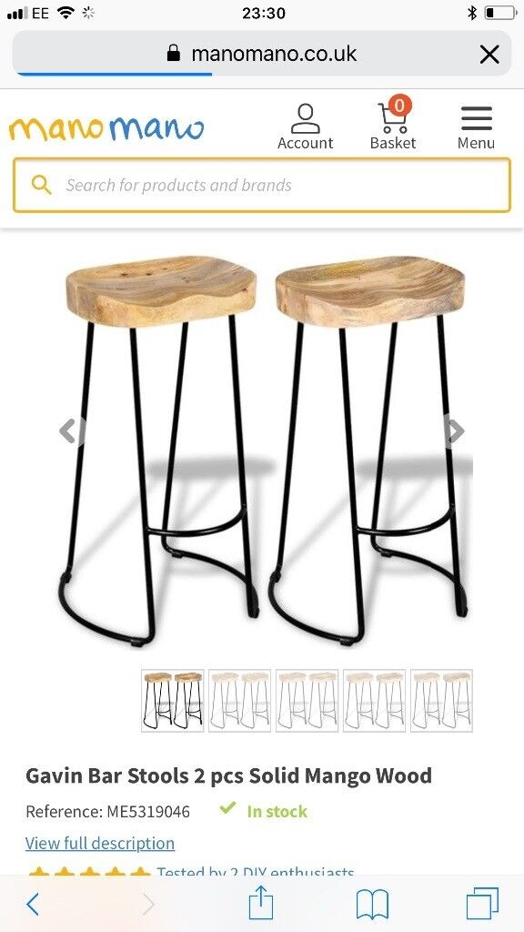 Surprising Brand New In Box Mano Mano Wooden Bar Stool In Colinton Edinburgh Gumtree Caraccident5 Cool Chair Designs And Ideas Caraccident5Info