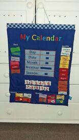 Childrens velcro calendar