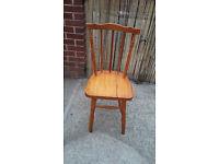1 pine wood high back chair