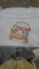 Mamas & Papas, baxter bear snugglemat and gym. Playmat