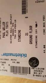 2 Paul Weller tickets for sale