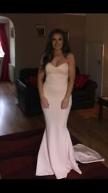 Pink/nude Prom and Evening dress, hand made/custom made
