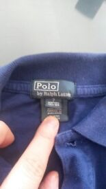 Boys Designer Ralph Lauren Blue Polo 7yrs