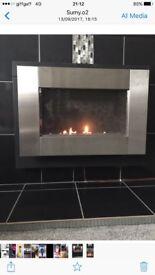Focal point fire silver wall mounted flueless gas fire
