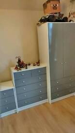 Malibu 3 Piece 2 Door Wadrobe Set - Grey