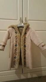 Beautiful suede girls coat age 3-4 years