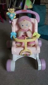 Fisher price first buggy and doll