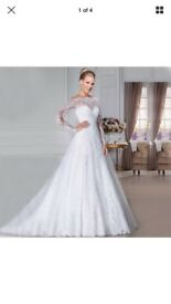 ivory wedding dress brand new size 16-18