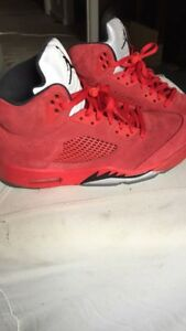 Air Jordan retro 5s red suede