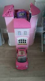 Barbie house and car