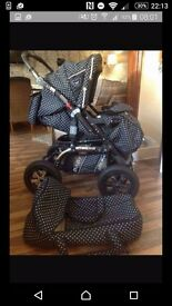 Black and white travel system