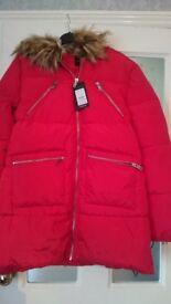 Ladies new look coat size 14 bnwt