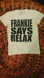 Frankie Says Relax FAMOUS TSHIRT as in Friends TV Show size Small