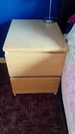 Ikea bedside drawers x2