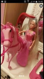 Like new princess with horse