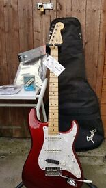 Fender usa std strat candy apple red