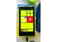Nokia Lumia 1020 32GB 41MP cam boxed with charger and paperwork, great condition on 3 network