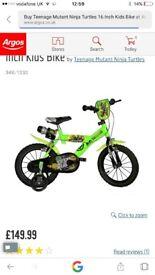 Boys/girls/kids teenage mutant ninja turtles bike