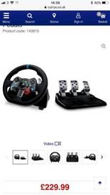 Logitech drive force g29 steering wheel and pedals