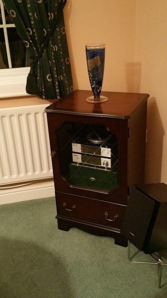 Dark Wooden Dispay Cabinet