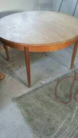 G plan dinning table chairs