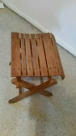 Handy wooden folding stool