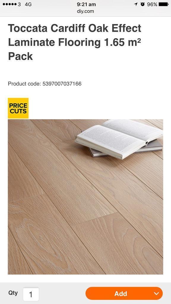 14 Packs Of Toccata Cardiff Oak Effect Laminate Floor