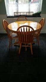 Table and 3chairs only