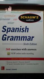 Schaum's Spanish Grammar Textbook