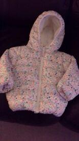Girls paddded fleecy jacket