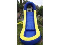 15ft kids inflatable water slide and splash pool