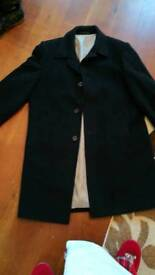 Mens coat with cashmere