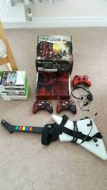 Xbox 360 Slim Gears of War Limited Edition 320GB,Controllers + Games