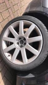 Audi runflat all 4 tyres