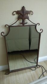 Wrought Iron Wall Mirror