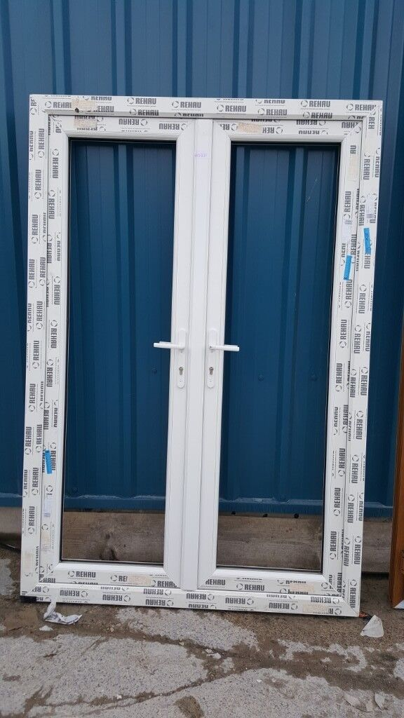 New White Upvc Miss Measured French Doors For Sale Just 240 Vat