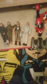 Action men and loads of accessories