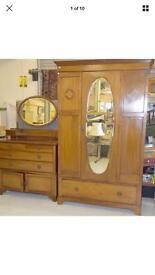 Vintage Victorian mahogany bedroom set