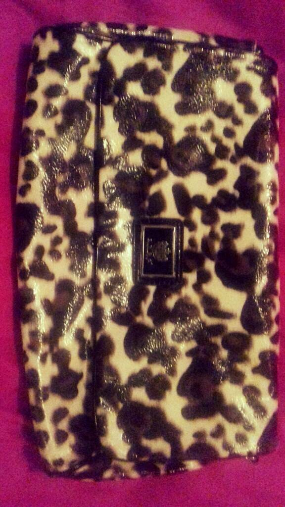 Brand new LYDC large leopard clutch bag