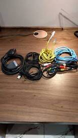 Barely used mint condition i/o cables: Ethernet, Video and Data