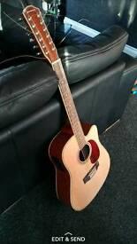 12 string gear4music semi acoustic guitar